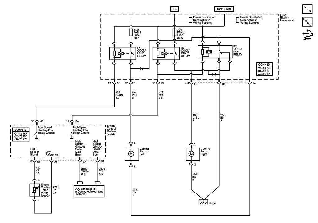 [SCHEMATICS_4US]  2006 DTS - fan or overheat problems | Cadillac Owners Forum | Cadillac Sts Fan Wiring |  | Cadillac Forums