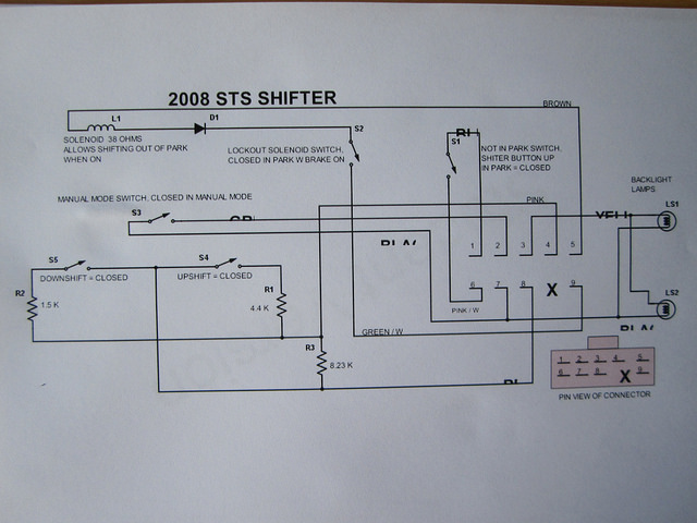 Sts And Sts V Shifter Not In Park Diagram And Repair Cadillac Owners Forum