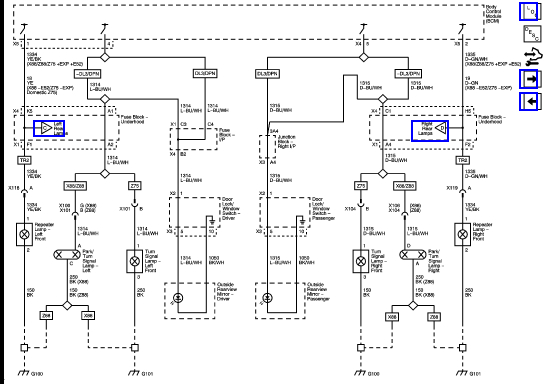 [ZSVE_7041]  Wiring Diagram for Left Front Blinker?   Cadillac Owners Forum   Cadillac Turn Signal Wiring Diagram      Cadillac Forums