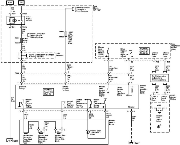 Driver S Seat Wiring Diagram Cadillac Owners Forum