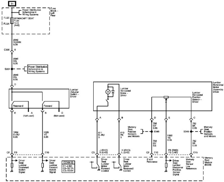 Driver's seat wiring diagram | Cadillac Owners ForumCadillac Forums