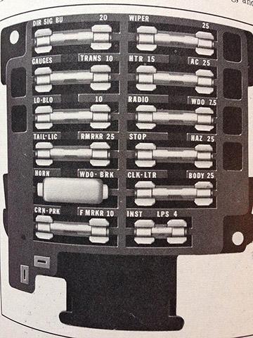 69 cadillac fuse box descriptions | cadillac owners forum  cadillac owners forum