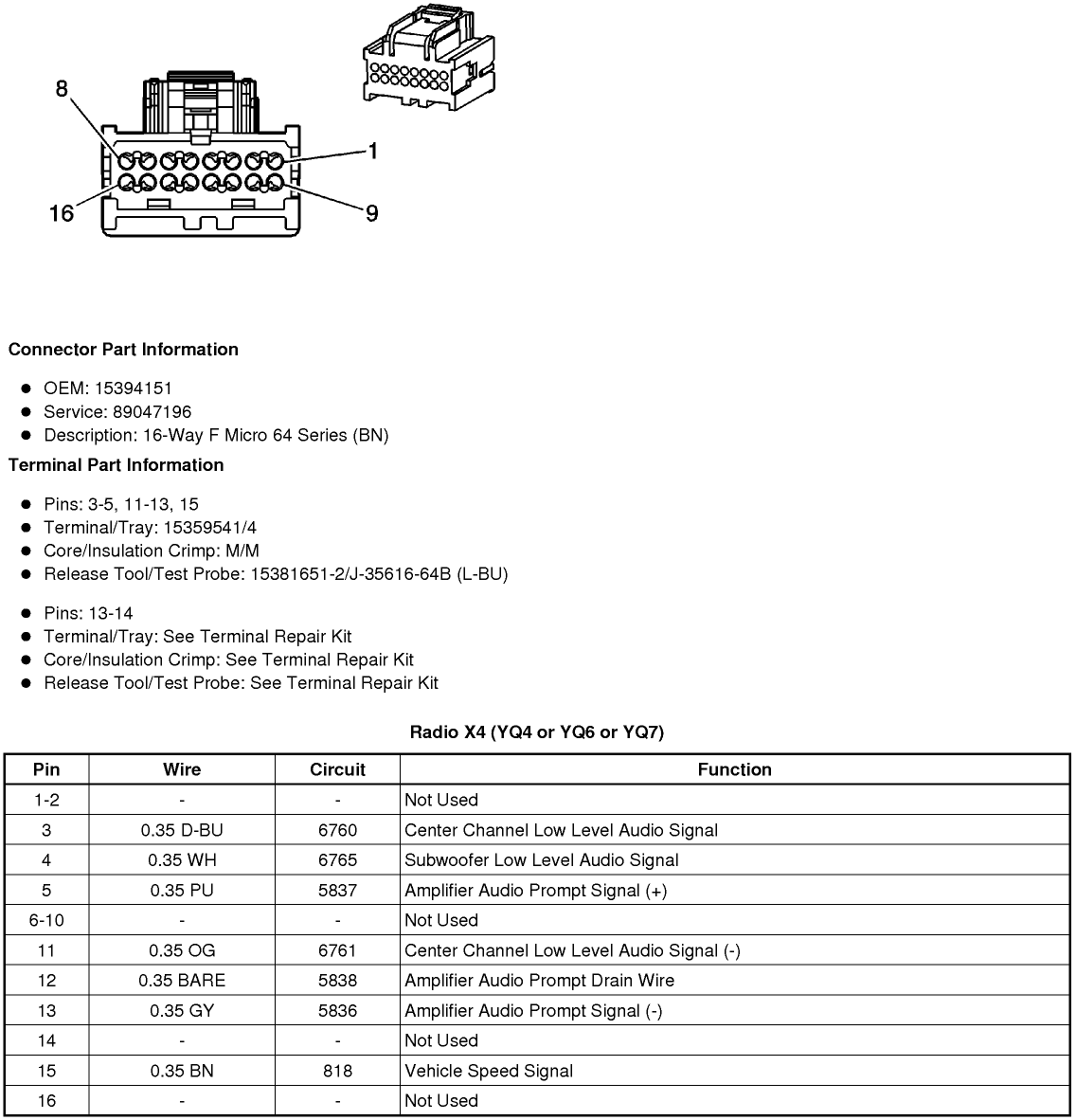 wiring diagram or schematic for an 2008 sts-v Bose system ... on