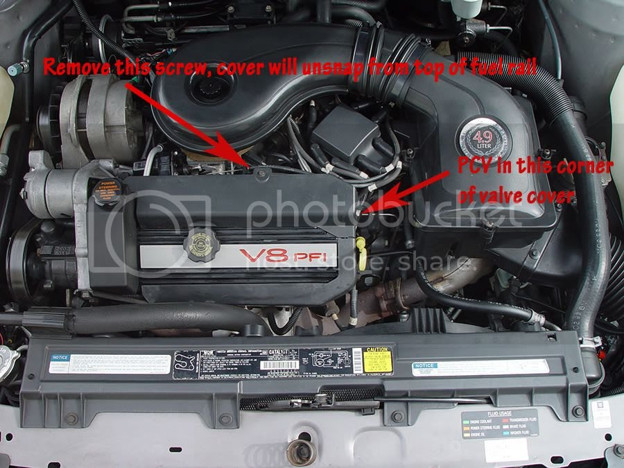 PCV valve location on 4 9 litre  | Cadillac Owners Forum
