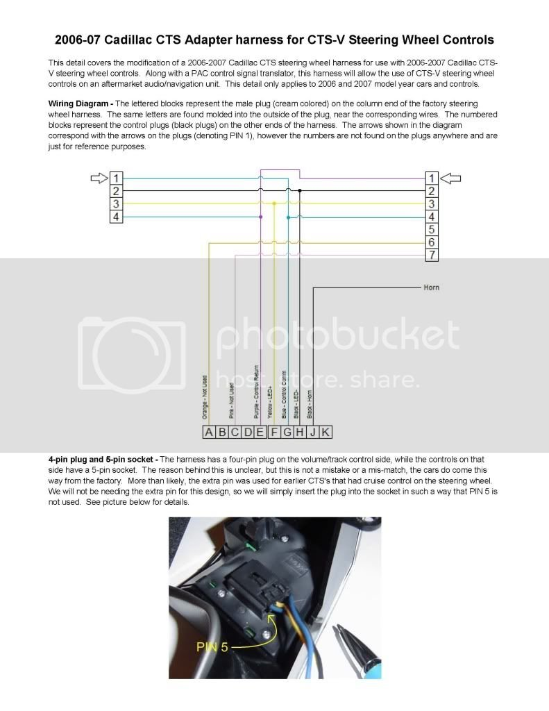 use the below wiring diagram for rewiring the stock cts harness for the cts- v controls
