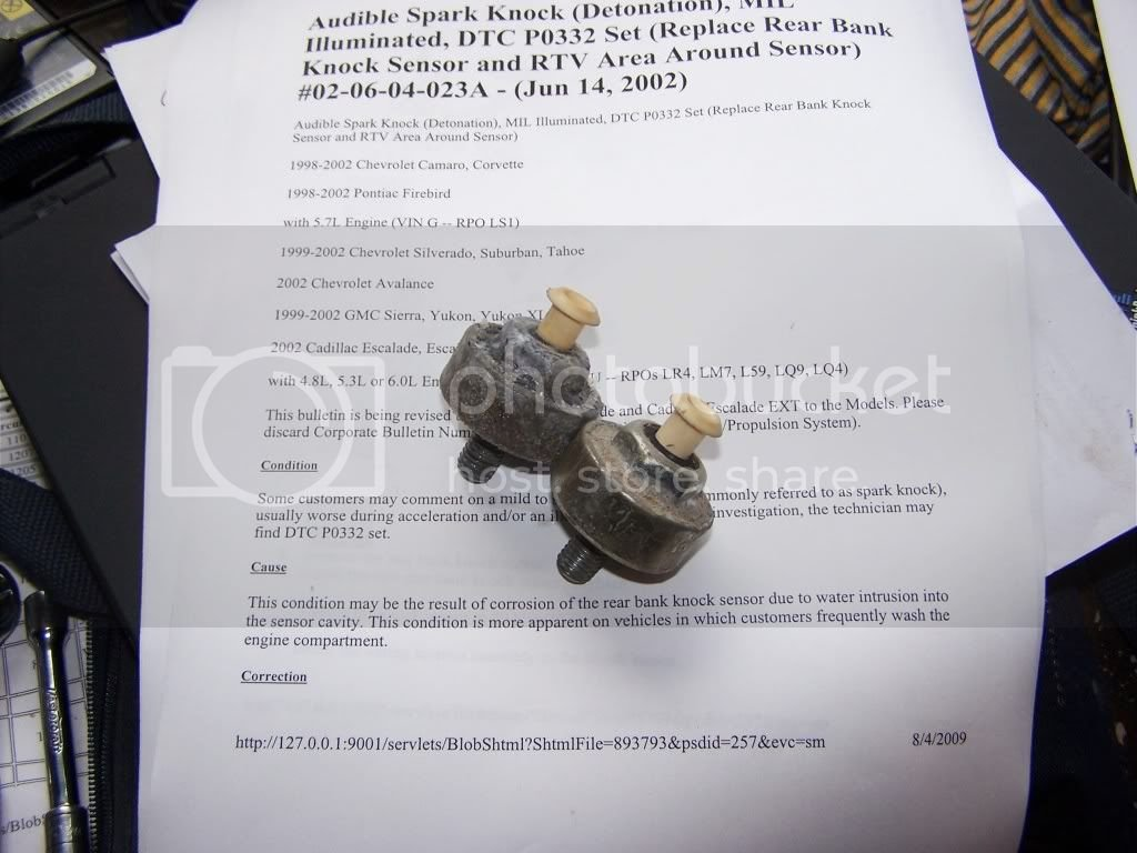 DTC P0332 Knock Sensor replacement TSB #02-06-04-023A