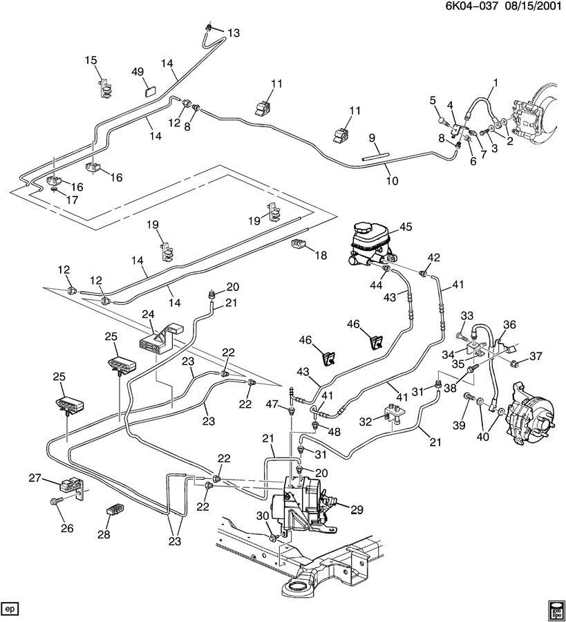 2003 Chevy Tahoe Brake Line Diagram