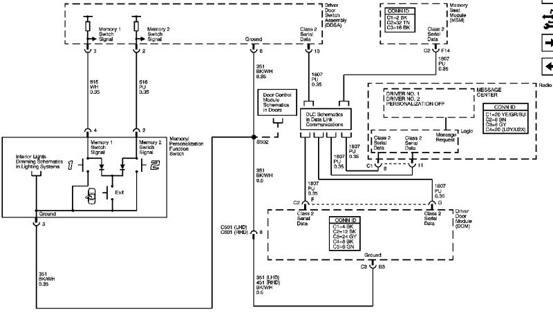 Driver's seat wiring diagram | Cadillac Owners Forum on