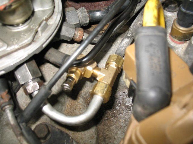 TBI fuel pressure test port   Cadillac Owners Forum