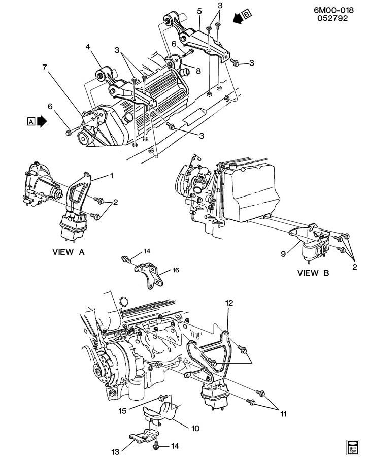 1994 deville 4.9 motor mounts replacement | Cadillac ...