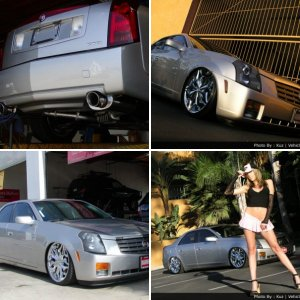"My old 2004 cadillac CTS - Airbagged on 20"" Lexani"