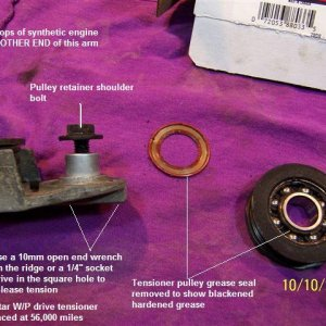 Pulley and tensioner (Notes)