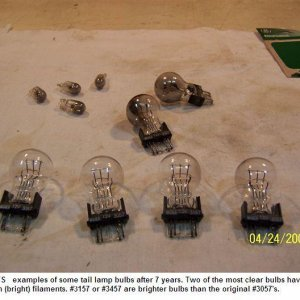Taillight bulbs 2