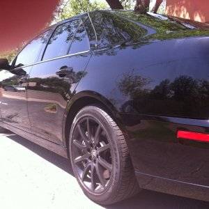 STS V Driver Side Wax and Tires 1