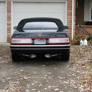 Allante with Borla Dual Exhaust