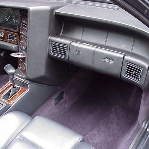 1993 Triple Black Cadillac Allante  Interior