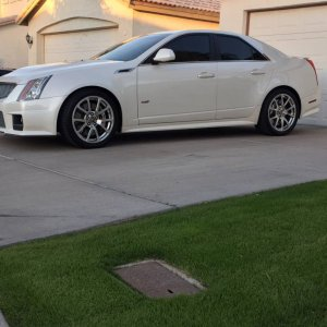 2012 White Diamon TriCoat CTS V