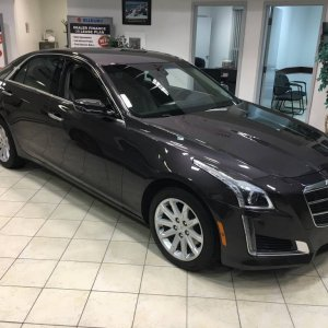 My 2014 Cadillac CTS 2.0L Turbo AWD (rare purple color)