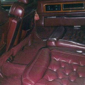 1990 Cadillac Fleetwood Rear Seats