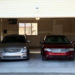 STS-V with the wife's MKZ (Garage still under a bit of construction)
