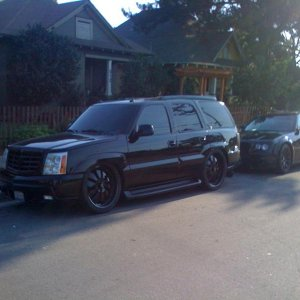 Murdered out! My whip with my lady friends SRT-8 300