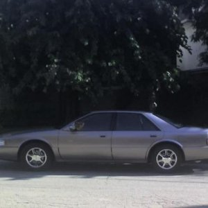 1997 Cadillac STS in shade