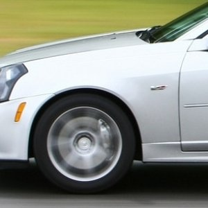 My CTS-V at the track.