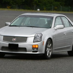My 2005 CTS-V at the track.