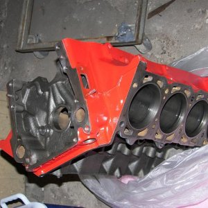 decked, honed and cleaned stock 350 block