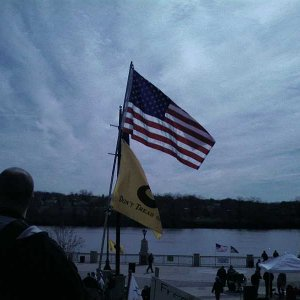 I played with the picture settings on my cellphone camera - too bad the Gadsden Flag wasn't unfurled.