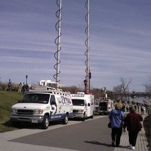 The local media showed up for a bit, but only the Capital News 9 van stayed until I left at 1PM.