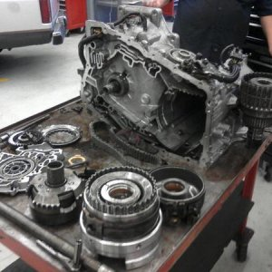 The Transmission after I took it apart to rebuild it!