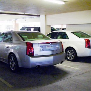 We pulled into a casino parking garage just as another car pulled out and we were sitting by a CTS, not a V, but a rarity all the same.