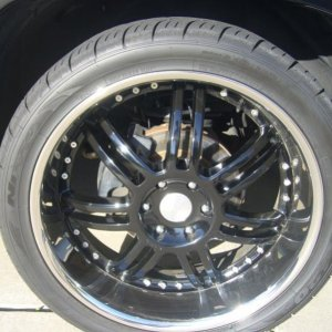 "24"" Momo's with stock brakes/rotors"