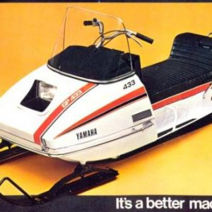 1973 YAMAHA GP 433B - MY FIRST SNOWMOBILE