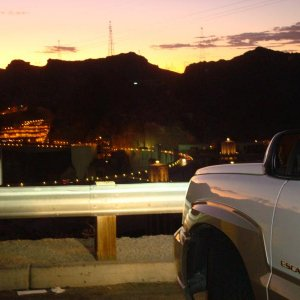 MY ESCALADE @THE HOVER DAM ON THE WAY TO VEGAS :)