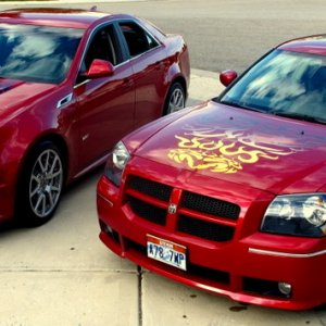 CTS V with 2006 SRT8 Magnum  My toys