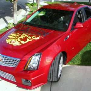 CTS V 2011 with Decal