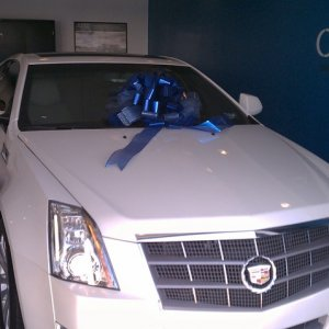 "2011 CTS Coupe - White Diamond - at the dealership in ""Delivery"""