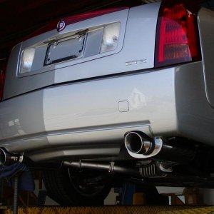 MAgnaflow Exhaust that I built for the caddy!
