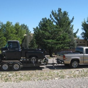 truck to welder for IFS install (Sep 10)