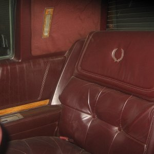 The rear seats are in fantastic shape.