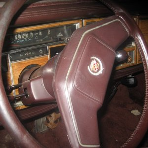 View over steering wheel. The odometer indicated ~17k, but that is impossible. All of the interior trim is still attached, and the only real cosmetic