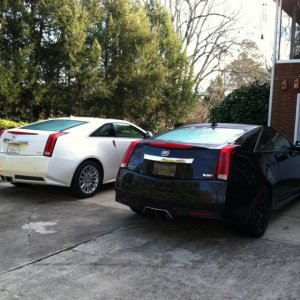 2011 Cadillac CTS-V Coupe Black Diamond Edition  2011 Cadillac CTS Coupe White Diamond (buddie's car)