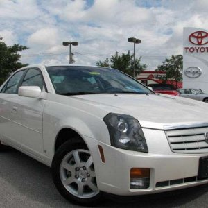 Photos of my CTS from the car lot right before purchase. It was love at first sight!