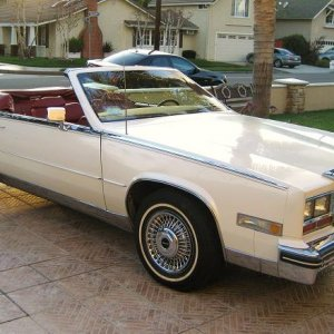 1984 Eldorado, but you can't see the continental kit