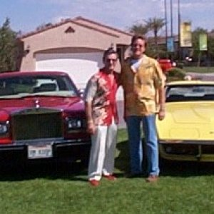 Rolls and Vette in show 2008