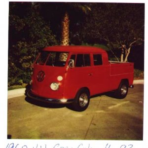 1960 VW Cru Cab.  This thing was a death trap.
