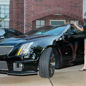 Wifey and her grocery getter 2012 CTS-V Coupe