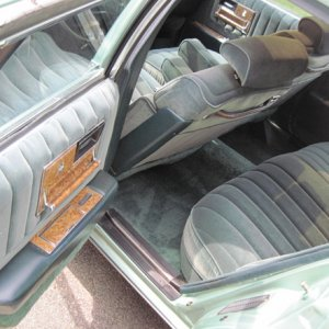79Svlle SeatsRear ... I was blessed to get the cloth interior and with a moonroof, rare combo, rare color, rare to find this car in good shape. Thanks